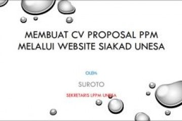 MEMBUAT CV PROPOSAL PPM MELALUI WEBSITE SIAKAD UNESA