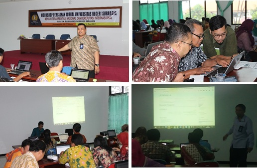 Kegiatan workshop sesi I di Auditorium LPPM Unesa